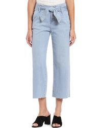 Mavi Jeans - Cristin Tie High Waist Crop Wide Leg Jeans - Lyst