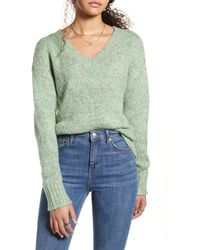 BP. Cozy V-neck Sweater - Green