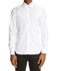 Alexander McQueen - Harness Stretch Poplin Men's Button-up Shirt - Lyst