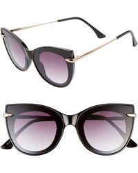 BP. 48mm Cat Eye Shield Sunglasses - Black