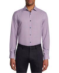 W.r.k. Trim Fit Check Performance Dress Shirt - Multicolour