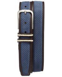 Mezlan - Nobuk Leather Belt - Lyst