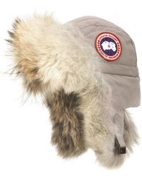 Canada Goose - Aviator Hat With Genuine Coyote Fur Trim - - Lyst