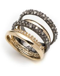 Alexis Bittar Pavé Stack Ring - Metallic