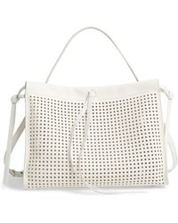 BOSS by Hugo Boss Katlin Small Perforated Leather Tote - White
