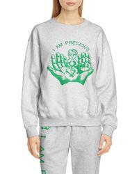 Ashley Williams Precious Graphic Sweatshirt - Gray