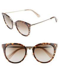 Kate Spade | Jazzlyn 51mm Cat Eye Sunglasses - Havana/ Gold | Lyst
