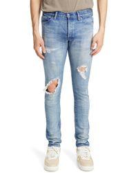 John Elliott - The Cast 2 Ripped Skinny Fit Jeans - Lyst