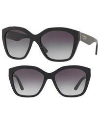 6c1f4e8fb05 Marblecheck 55mm Square Sunglasses - Top Black Gradient.  245. Nordstrom ·  Burberry - 57mm Gradient Sunglasses - Lyst