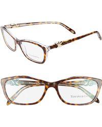 3e8498d6dd 54mm Cat Eye Optical Glasses - Transparent Tortoise - Lyst