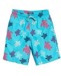 Vilebrequin - Multicolor Turtle Print Swim Trunks - Lyst