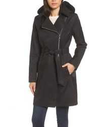 Vince Camuto - Belted Asymmetrical Trench Coat - Lyst