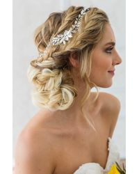 Brides & Hairpins Rhea Halo With Combs - Metallic