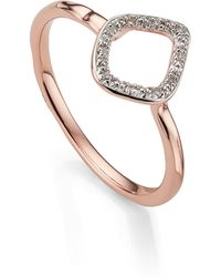 Monica Vinader - Riva Mini Kite Diamond Stacking Ring - Lyst