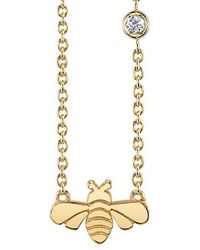Shy By Sydney Evan - Bee Pendant Necklace - Lyst