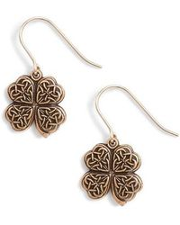 ALEX AND ANI - Four Leaf Clover Drop Earrings - Lyst