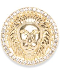 Vince Camuto Goldtone And Glass Stone Lion Head Brooch Pin - Metallic