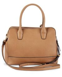 Sole Society - Nera Faux Leather Satchel - Lyst