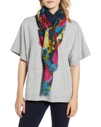 Echo - Moonlit Garden Wool Square Scarf - Lyst