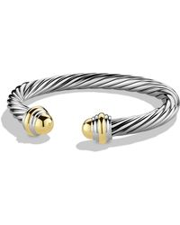 David Yurman Cable Classics Bracelet With 14k Gold - Metallic