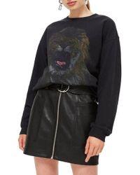 TOPSHOP - Lion Sweatshirt - Lyst