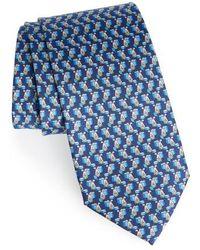 Ferragamo - Bunny Print Silk Tie - Lyst