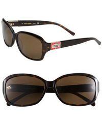 Kate Spade - 'annika' 56mm Polarized Rectangular Sunglasses - Lyst