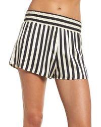 Morgan Lane - X Amanda Fatherazi Mini Mask Corey Stripe Silk Shorts - Lyst