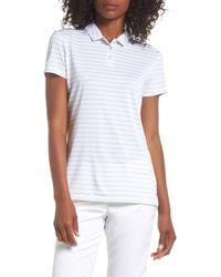 Nike Dry Polo Short Sleeve Stripe (pure Platinum/white/flat Silver) Clothing