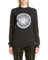 Balmain | Coin Logo Sweatshirt | Lyst