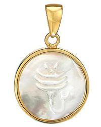 Asha - Zodiac Mother-of-pearl Charm - Lyst