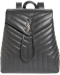 Saint Laurent - Medium Loulou Calfskin Leather Backpack - Lyst