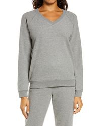 Pj Salvage Thermal V-neck Pullover - Grey