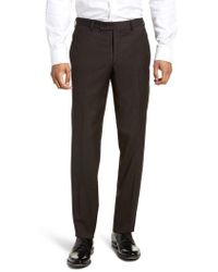 Ted Baker - Jefferson Flat Front Solid Wool Trousers - Lyst