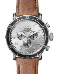 Shinola The Runwell Sport Chronograph Watch - Metallic