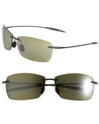 Maui Jim   Lighthouse 65mm Polarizedplus2 Rimless Sunglasses - Smoke Grey   Lyst