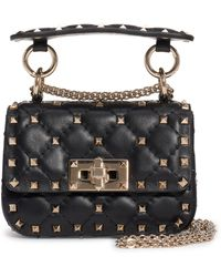 Valentino Garavani Micro Rockstud Spike Shoulder Bag - Black