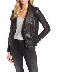 Chelsea28 Leather Moto Jacket - Black