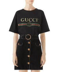 Gucci - Fake Logo Tee - Lyst