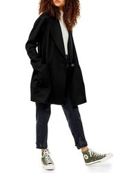TOPSHOP Carly Coat - Black
