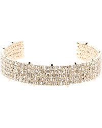 Alexis Bittar Crystal Lace Cuff Bracelet You Might Also Like - Metallic