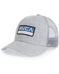RVCA | Reno Logo Patch Trucker Hat | Lyst