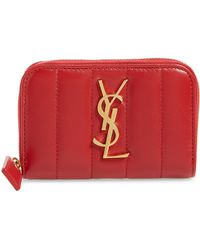 Saint Laurent - Vicky Zip Around Card Wallet - Lyst