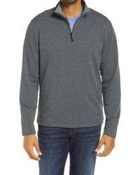 Robert Graham Gareth Quarter Zip Pullover - Grey