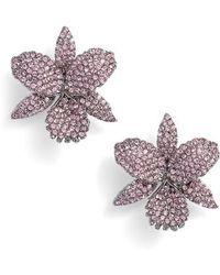 Nina - Large Orchid Stud Earrings - Lyst