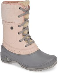 The North Face - Shellista Roll Cuff Waterproof Insulated Winter Boot - Lyst