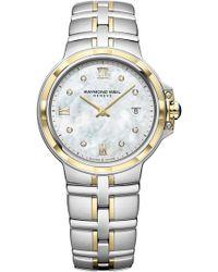 Raymond Weil - Parsifal Diamond Bracelet Watch - Lyst