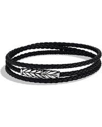 David Yurman - 'chevron' Triple-wrap Bracelet - Lyst