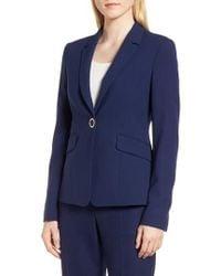 BOSS - Jibalena Textured Stretch Wool Suit Jacket - Lyst