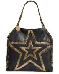 Stella McCartney - Small Falabella Shaggy Deer Star Faux Leather Tote - Lyst